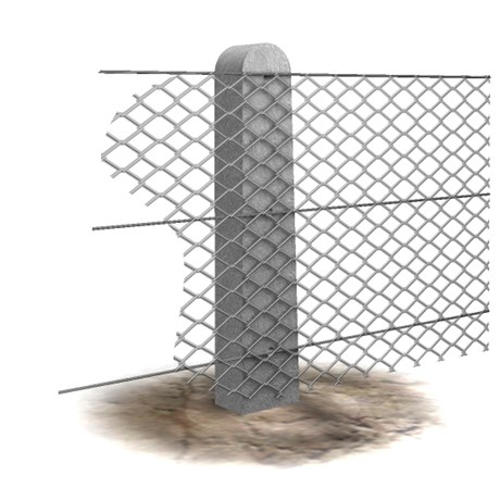 Chainlink Concrete Posts